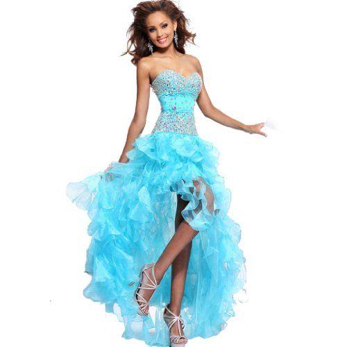 IDOBRIDAL Strapless Rhinestone Bridesmaid Evening Party Prom Cocktail Dress 04-Blue US size 6 IDOBRIDAL