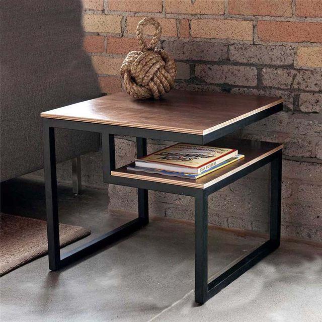 País de américa para hacer la cosecha , antigua mesas de hierro forjado ocasional minimalista creativa madera mesa auxiliar mesa de café pequeño sq