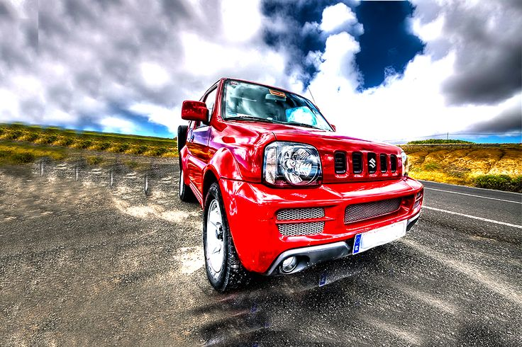 Suzuki Jimny - Red - Soft top/Cabrio - Simotas car rental Kefalonia