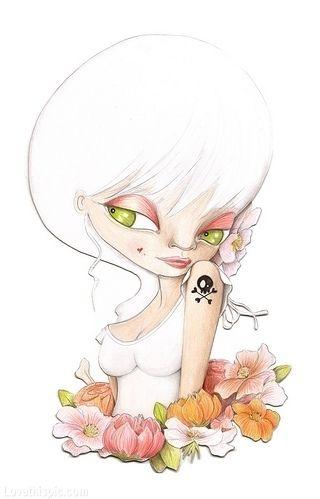 Cute Art cute cartoon art tattoo drawing painting sketch