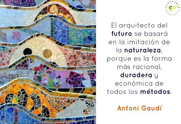 """""""El arquitecto del futuro se basará en la imitación de la naturaleza, porque es la forma más racional, duradera y económica de todos los métodos"""" Antoni Gaudí  http://www.tottetris.com/  #arquitectura   #naturaleza   #Barcelona   #Gaudi   #diseño"""