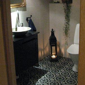 .Voorbeelden tegels toilet