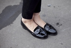 Black penny loafers are my second-favorite shoes.