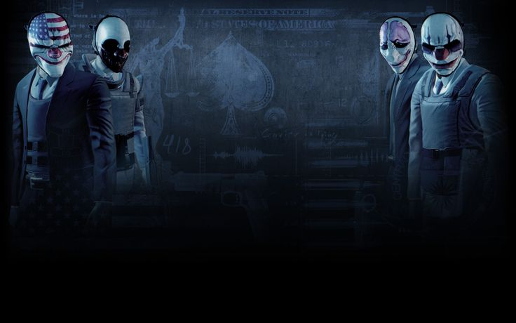 Vídeo Game Payday 2  Dallas (Payday) Wolf (Payday) Houston (Payday) Chains (Payday) Papel de Parede