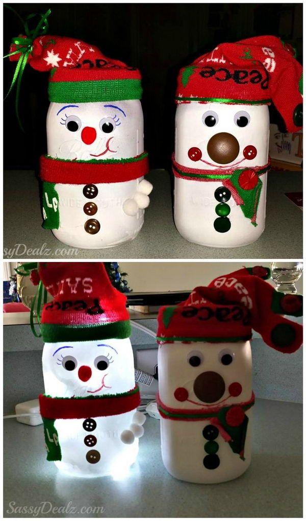 DIY Snowman Mason Jar.                                                                                                                                                                                 More                                                                                                                                                                                 More