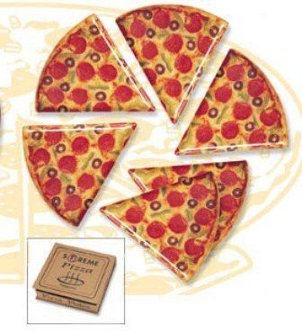 Pizza Slice Plates - Set of 6