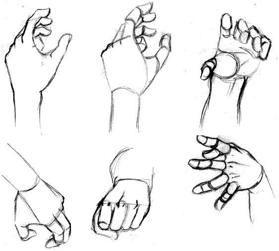 Como dibujar una mano (manual) manos real anime – paso a paso | Dibujanime!                                                                                                                                                     Más