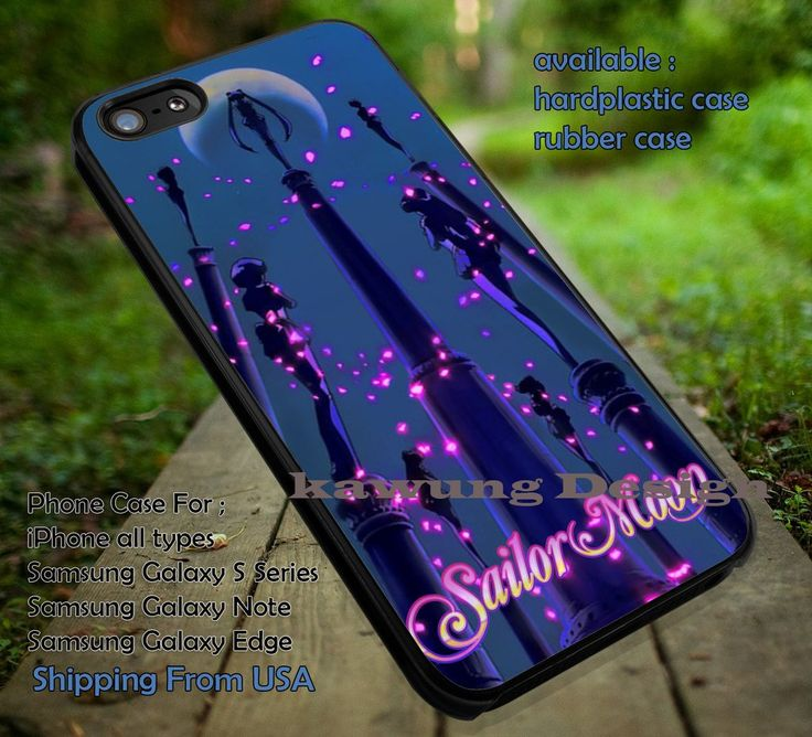 Sailor Moon Silhouette with Logo iPhone 6s 6 6s  5c 5s Cases Samsung Galaxy s5 s6 Edge  NOTE 5 4 3 #cartoon #anime #Sailormoon dt