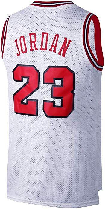 2c4ec9c6dcf Amazon.com  RAAVIN Legend Mens  23 Basketball Jersey Retro Athletics Jersey  Red Strip S-XXXL (White