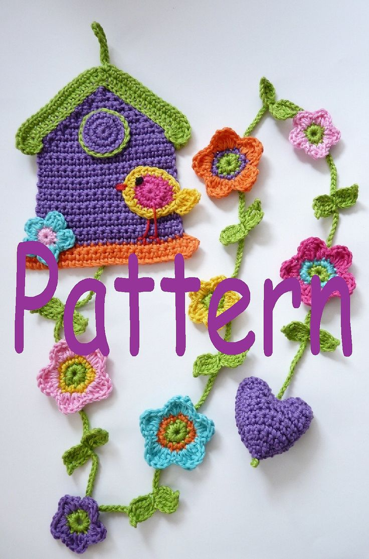 Crochet+Pattern+for+Birdhouse+von+TeenyWeenyDesign+auf+Etsy,+$7,50
