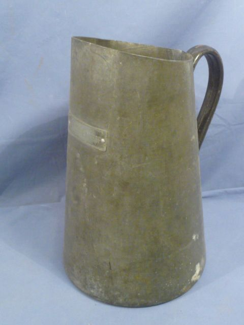 Original WWII German Luftwaffe Barracks Washing Pitcher