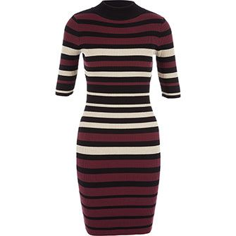 LU Nyc Plum & Metallic Jumper Dress