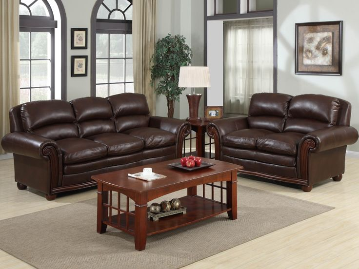 Rana Furniture Living Room : Trojan Coffe Bonded Leather Sofa & Loveseat #sofa # ...