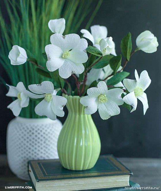 Цветы КИЗИЛА из гофрированной бумаги. Шаблоны для распечатки (3) (559x664, 203Kb)