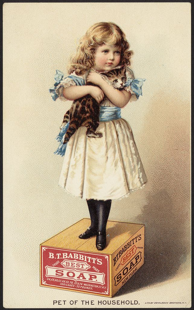 Pet of the Household - B. T. Babbitt's Best Soap [front], 1870-1900 - Advertising cards (19th Century American Trade Cards, Boston Public Library)