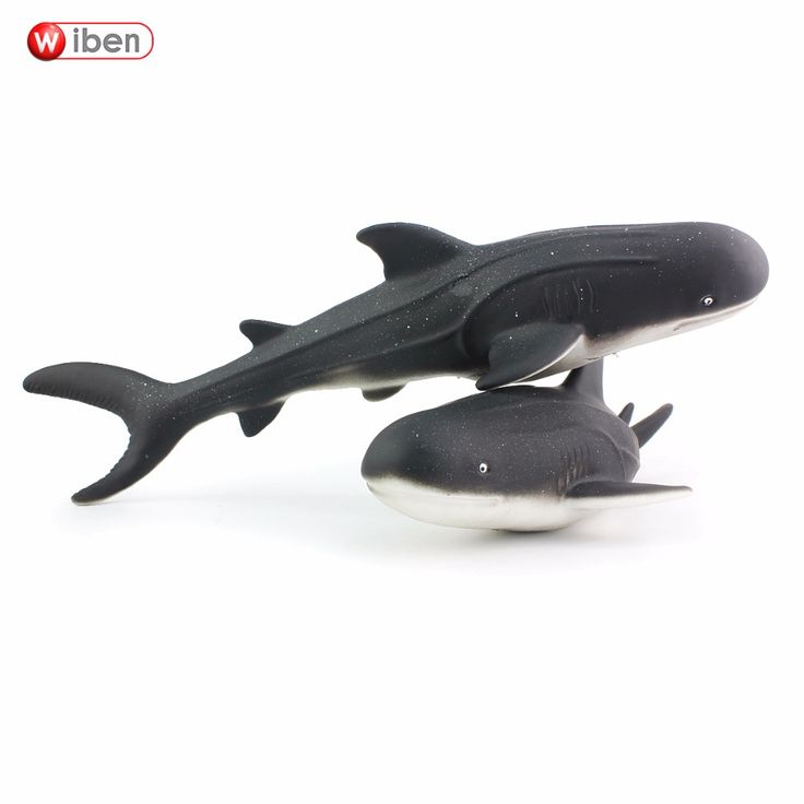 Wiben Sea Life Soft Gray Whale Simulation Animal Model Action & Toy Figures Educational toys Christmas Gift for Kids
