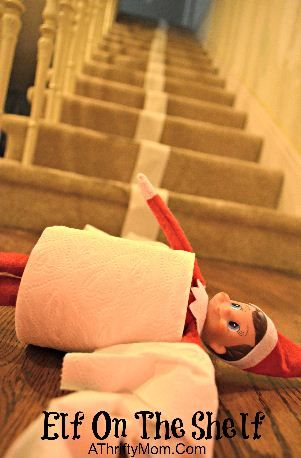 Elf On The Shelf Ideas ...simple but fun. This is great!!