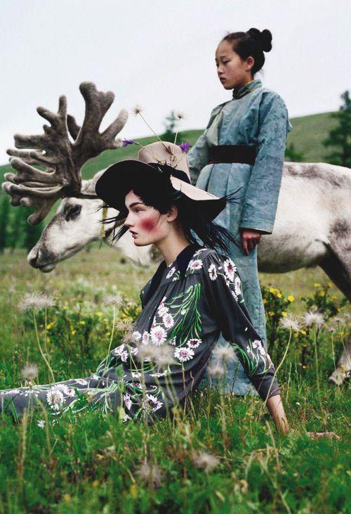 "Kirsi Pyrhonen/Vogue UK ""An Awfully Big Adventure"" Photographed Tim Walker"