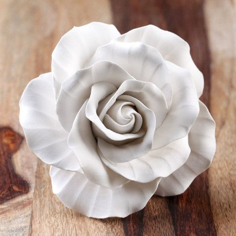 Gumpaste Briar Rose Sugarflower cake topper perfect for cake decorating fondant cakes & wedding cakes.  Edible Cake Decorations. | CaljavaOnline.com #caljava #gumpaste #sugarflower
