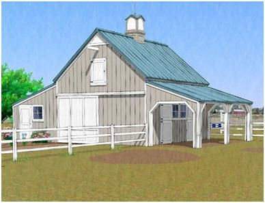 The chestnut hill barn this small all purpose pole barn for Small barn with loft