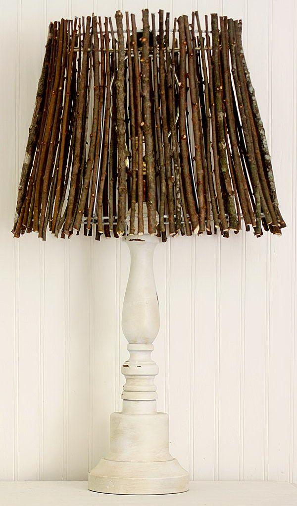 Fügen Sie ein wenig natürliches Element Dekoration mit diesem Zweig Lampenschirm…