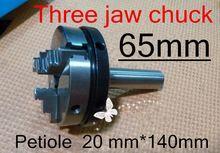 65mm Rechte schacht Drie klauwplaat Bladsteel 20mm lengte 140mm Handleiding De draaibank tool Gratis verzending(China (Mainland))