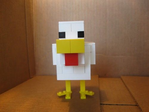 lego minecraft chicken; three things I love!
