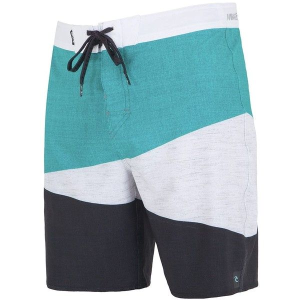 Rip Curl Men's Colorblocked Swimsuit ($55) ❤ liked on Polyvore featuring men's fashion, men's clothing, men's swimwear, teal, mens swim suits, mens swimwear, mens clothing, mens swimsuits and mens bathing suits