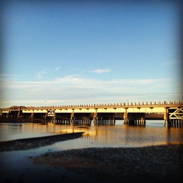 Old railway bridge on Water ride