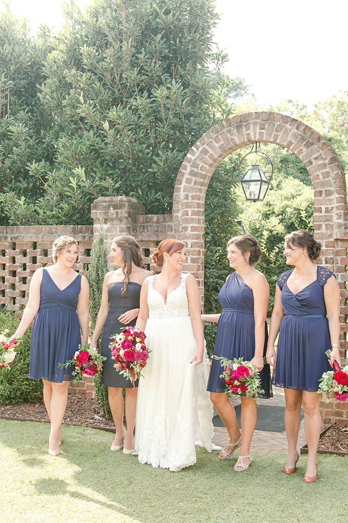 #navybridesmaids | Amy Allen Photography | Glamour & Grace