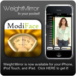 WeightMirror - Weight loss simulation and makeover tool. Upload a picture of yourself and see what you will look like without the weight!!
