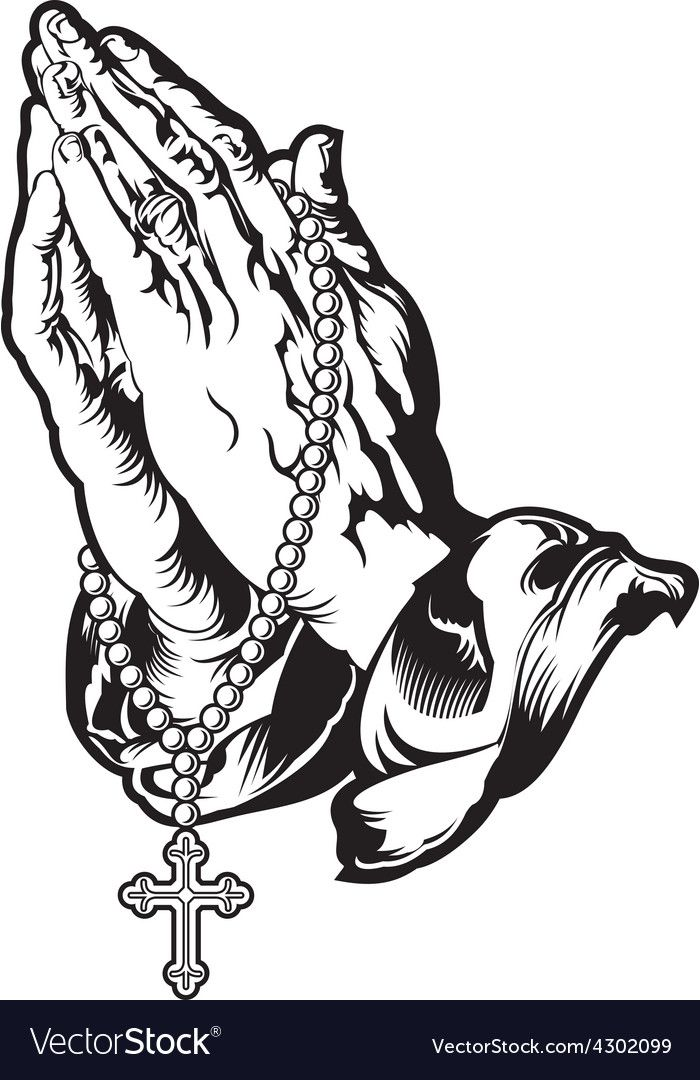 Pin By Andrey On Clip Art Rosary Tattoo Praying Hands With Rosary Hand Tattoos For Guys