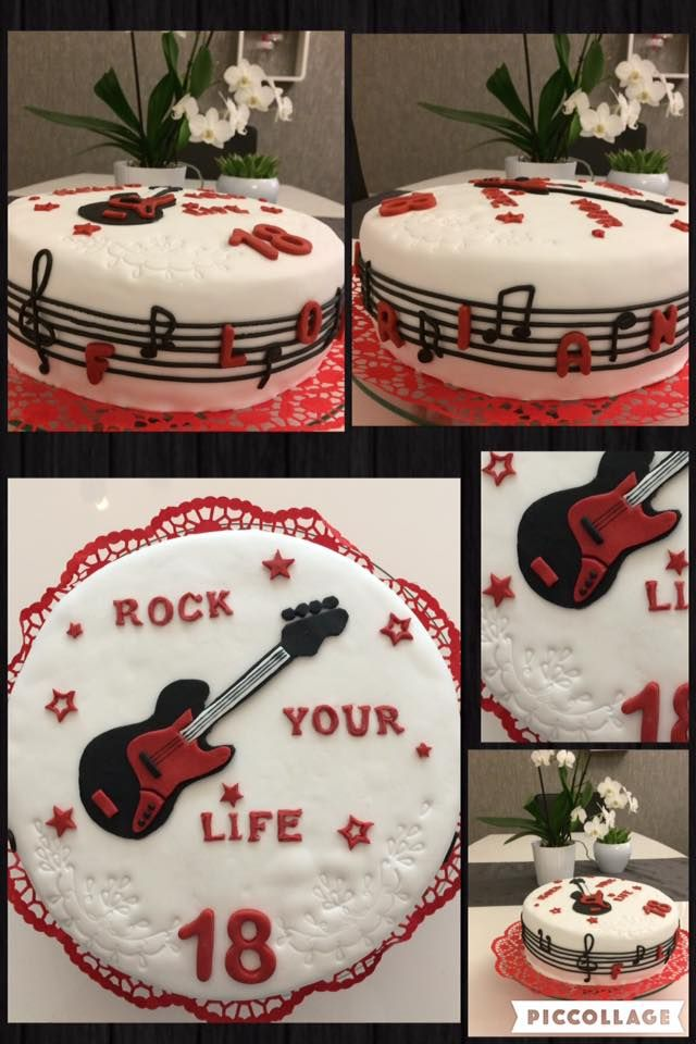 18th birthday cake fondant/ 18. Geburtstags torte Fondant