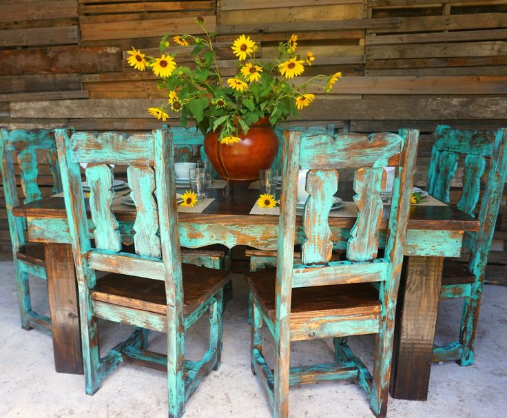 Teo Traditional Dinning Table for 6 - Sofia's Rustic Furniture