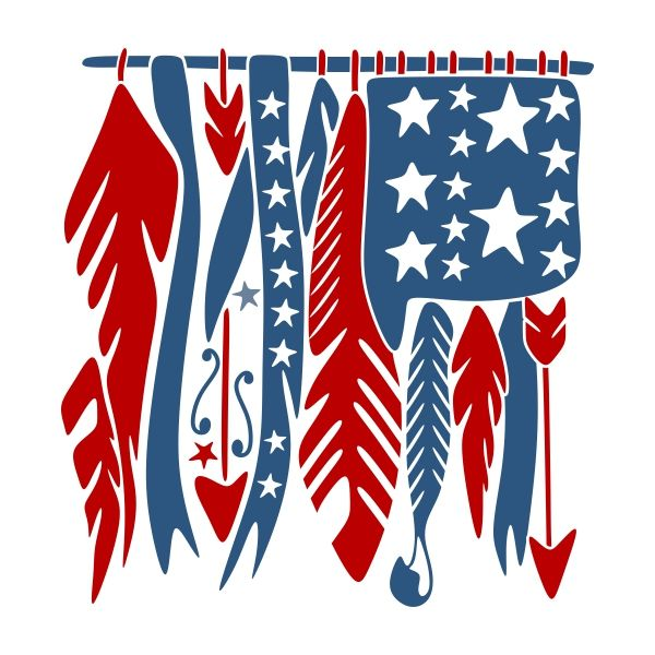 usa american feather flag cuttable design cut file vector clipart digital scrapbooking download
