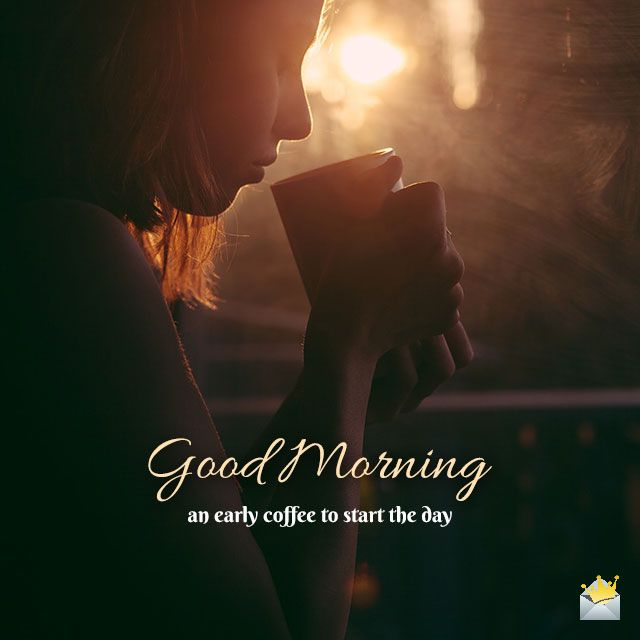 Mornings are symbols of new beginnings. Sharing an inspiring good morning image can spread our feeling of joyful productivity. Even if that might not be 100% true on this particular day, do this good act for your friends or colleagues - and you never know when it will be coming back to you!