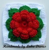 Luba Davies | Craftsy!: Squares Patterns, Squares Motif, Crochet Rose, Crochet Pdf, Crochet Motif, Crochet Squares, Granny Squares, Square Patterns, Crochet Patterns