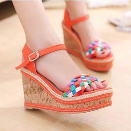 ultra high heels wedge sandals 2016