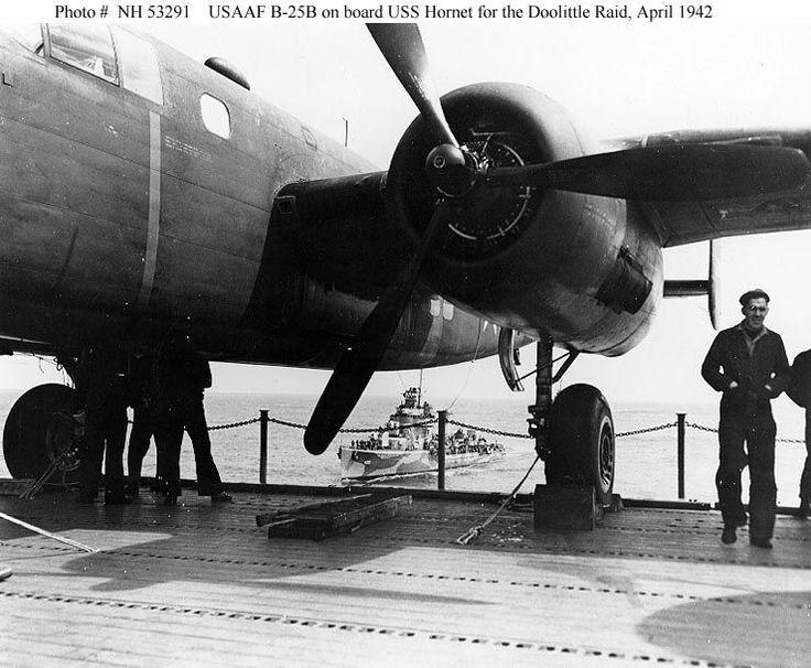 plane on Hornet CV8 ready to take flight for the Doolittle raid