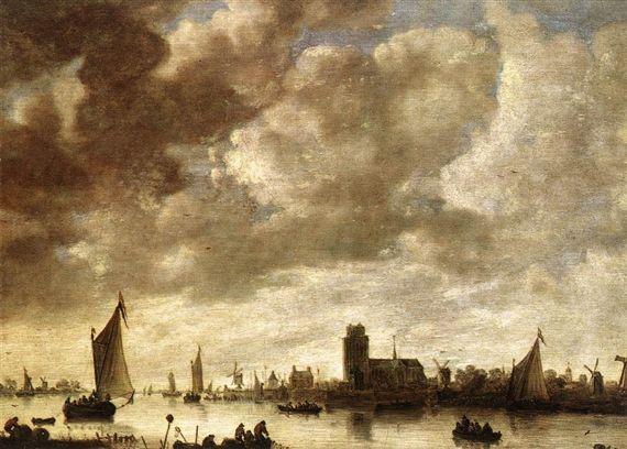 Jan van Goyen View of the Merwede before Dordrecht