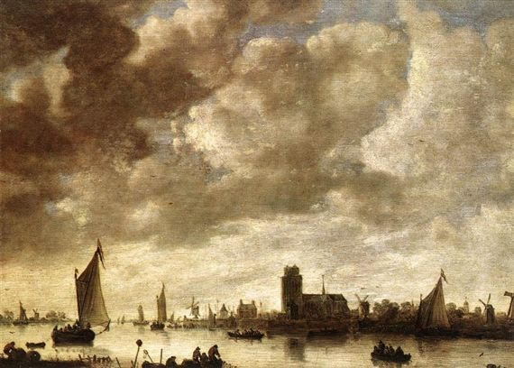 Jan van Goyen View of the Merwede before Dordrecht