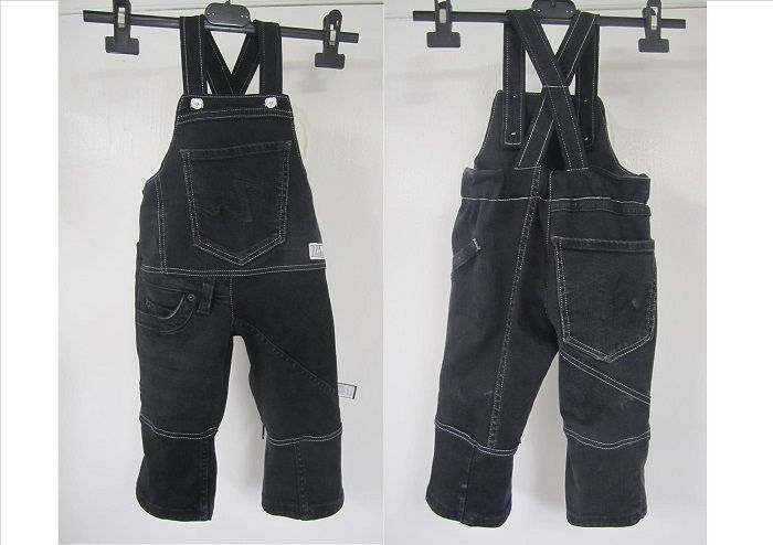 Jeans for a little boy. Made from recycled jeans.