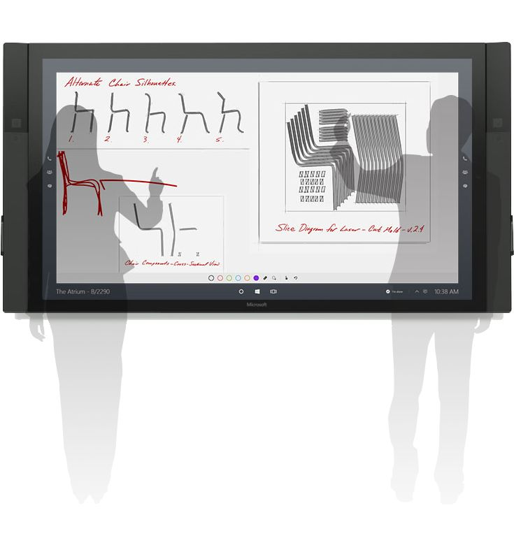 Microsoft Surface Hub, a powerful team collaboration device that replaces the whiteboard that is designed to advance the way people work together naturally. www.inbrook.com