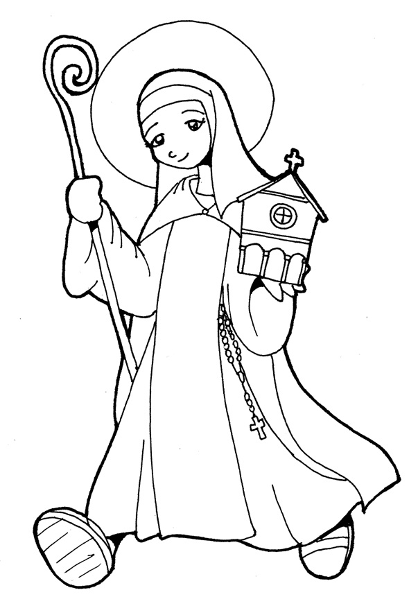 another catholic coloring page of st teresa of avila