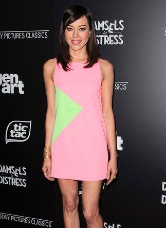 "( ☞ 2017 ★ HOT CELEBRITY WOMAN ★ AUBREY PLAZZA IN A MINISKIRT AND HIGH HEELS. ) ★ Aubrey Christina Plaza - Tuesday, June 26, 1984 - 5' 6"" 121 lbs 35-25-35 - Wilmington, Delaware, USA."