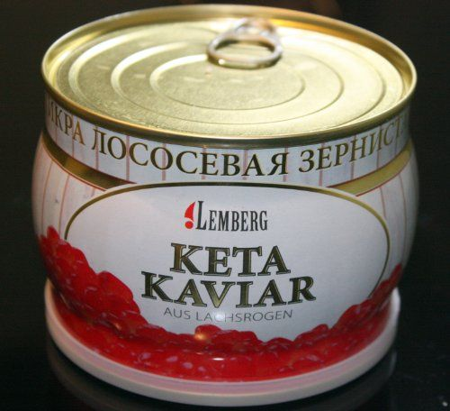 400g CAVIAR SALMON CHUM KETA IKRA KAVIAR 400g. MOST POPULAR! TOP QUALITY! With our low prices you can now afford real CAVIAR by the SPOONFUL!