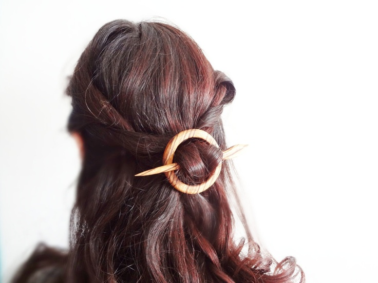 Zebra wood hair pin by theancientmuse on Etsy