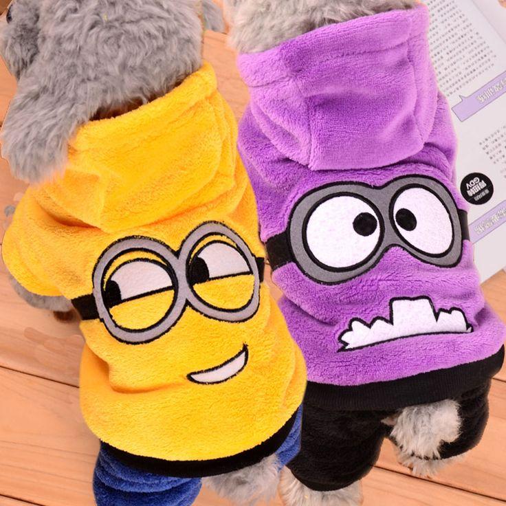 Winter Pet Dog Clothes Jumpsuit Dog Coat Jacket Clothing Cute Puppy Minions Costume for Chihuahua Teddy Cat Puppy Hoodie 30 -- Boleye podrobnuyu informatsiyu mozhno nayti na URL izobrazheniya.