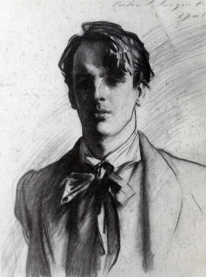 Portrait of William Butler Yeats, 1908 by John Singer Sargent