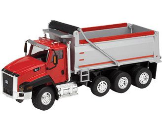 CAT CT660 Dump Truck, Construction Model, Norscot 55502, 1:50 scale in Red This CAT CT660 Dump Truck Diecast Model Motor Grader is Red and features working tipper body, wheels. It is made by Norscot and is 1:50 scale (approx. 22cm / 8.7in long).